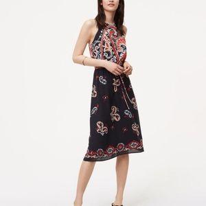 LOFT Paisley Halter Dress Size XS